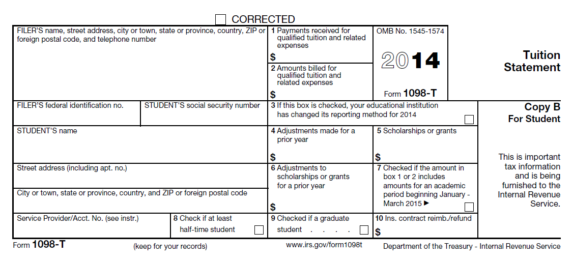 Form 1098-T: an example of international students' special needs ...