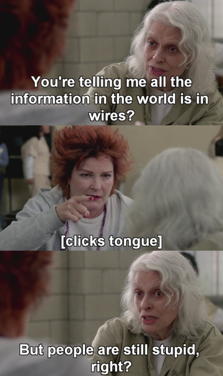 Old lady learns about the Internet from Orange is the New Black